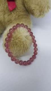 冰種 草莓晶 7.5mm 手珠
