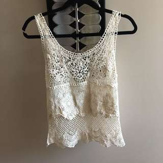 American eagle crochet top