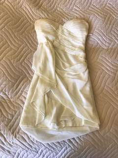 White godless looking dress from Honey