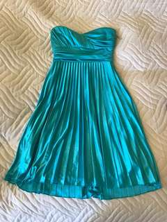 Silky blue dress from Le Chateau