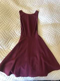 Open side and back maroon dress from American Apparel