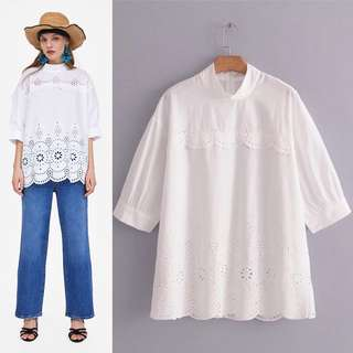 (XS~L) Loose Fitting Euro hook flower hollow long sleeve