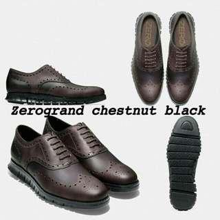 Cole haan Zerogrand chestnut/black sz8M