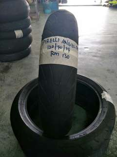 Tayar Pirelli angel st 120/70 secondhand