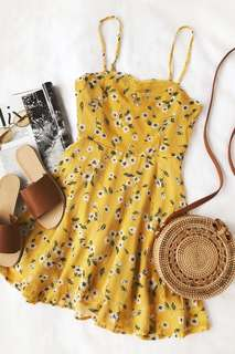 Yellow sun dress **brand new with tags**