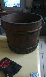 老檜木古董老件老物木桶