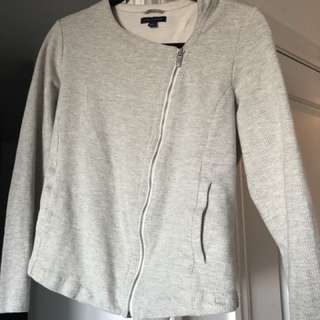 Tommy Hilfiger asymmetrical zip sweater. Tailored