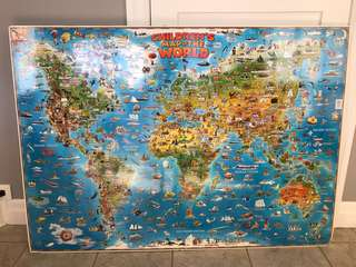 Children's world map. The most fun kids map ever