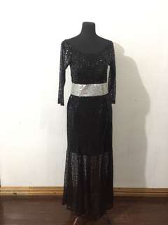 Elegant Black Long Gown