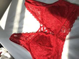 Red bralette Lace