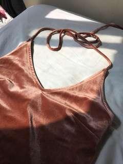 Forever 21 long velvet dress with slit