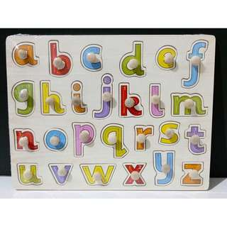 Wooden Peg Puzzles - Small Letters