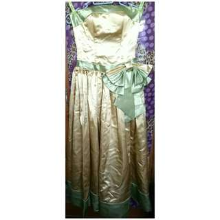 Gold and Green Gown for SALE!!!