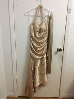 Gold Graduation Dress