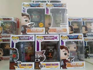 Funko Pops Guardians of the Galaxy