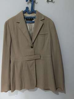 Preloved Blazer Kantor Wanita merk INVIO warna Khaki