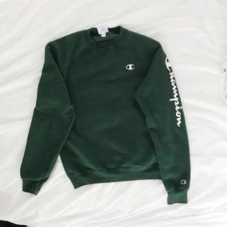 Champion Dark Green Crew-Neck Sweatshirt