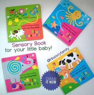 sensory board book baby book