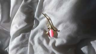 Broach with Pink Jewel