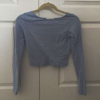Sky Blue Cropped Top