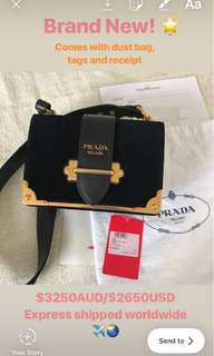 NEW authentic Prada Cahier bag
