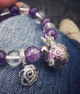 Amethyst & Clear Quartz Bracelet Diffuser