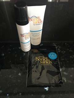 Bondi Sands Tanning Foam, Cream and mit