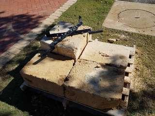 Limestone blocks & lifting tool