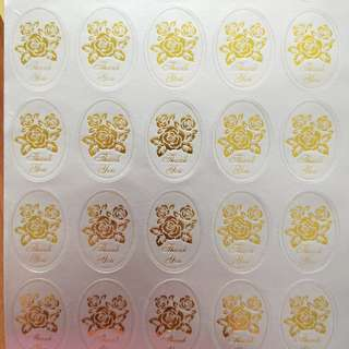 Thank you stickers silver gold 50pcs