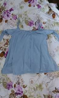 M Bluenotes Blue Off the Shoulder Top