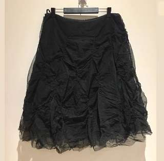My Belle sz M/L women midi black tutu skirt bulky gothic costume petticoat puffy