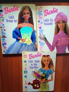 3 books Barbie doll stories books