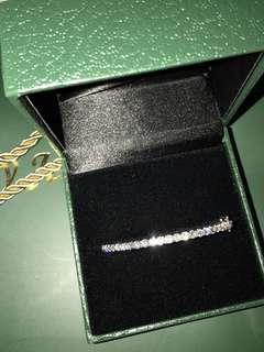 不議價 全新 有單,有收據,有盒,有紙袋  全套放售 FULL SET 真品正貨 real diamonds 💎  bracelet 18K white gold 100% NEW 100% REAL   My Jewelry 愛飾珠寶 18K750 白色黃金鑽石手鐲 石重 Diamond:27pcs 2.000carat  金重 18K750 白色黃金 約7.52GM  2 carats 27 pcs  高貴時尚襟興款款式 保證真鑽石 100% REAL  100% NEW