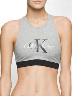 Calvin Klein grey sparkle bralette Crop Top