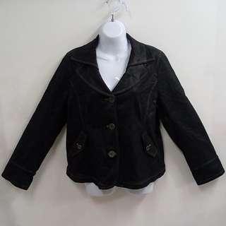 KERAIA克萊亞內豹紋俐落有型時尚牛仔外套全新品XL號高級設計師品牌流行潮流穿搭必備單品百搭款式