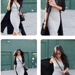 2in1 Dress+Cardigan Set