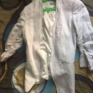 HM kacha / off white blazer for women