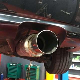 Honda Civic HKS Exhaust & Customize Mid Pipe