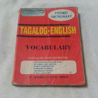 Tagalog-english dictionary