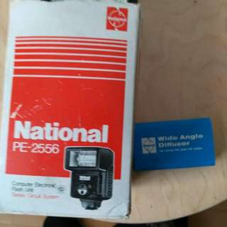 RE- REDUCED PRICE! National Computer Electronic Flash Unit. Including A Same Brand Wide Angle Diffuser. Seldom Used