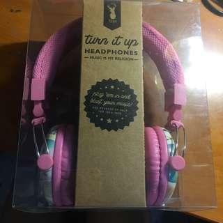 香港購回 全新!粉紅耳罩式耳機