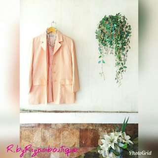 Amirtha Peachy Long Blazer