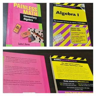 Set of 2 Algebra Study Guide Books (Anvil and CliffNotes)