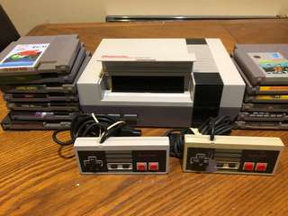 Nintendo & 14 Games. Missing Ac Switch