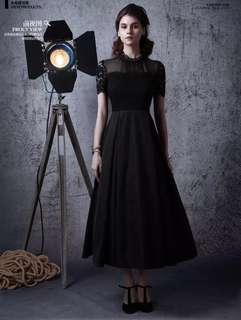 Black Long Lace Dress