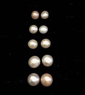 天然淡水珍珠純銀s925耳環