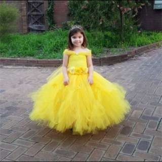 Customizable Princess Belle inspired Tutu Pageant Dress
