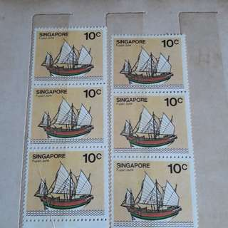 Old postage unused singapore 10 cents stamp