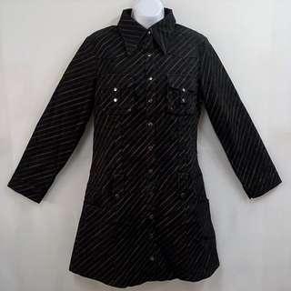 JB EDEN歐美都會時尚風斜條紋長袖洋裝全新含吊牌原價1980元女性XL號專櫃服飾休閒約會正式場合不退流行必備單品