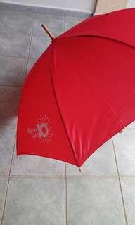 BNIP sturdy red umbrella from PA